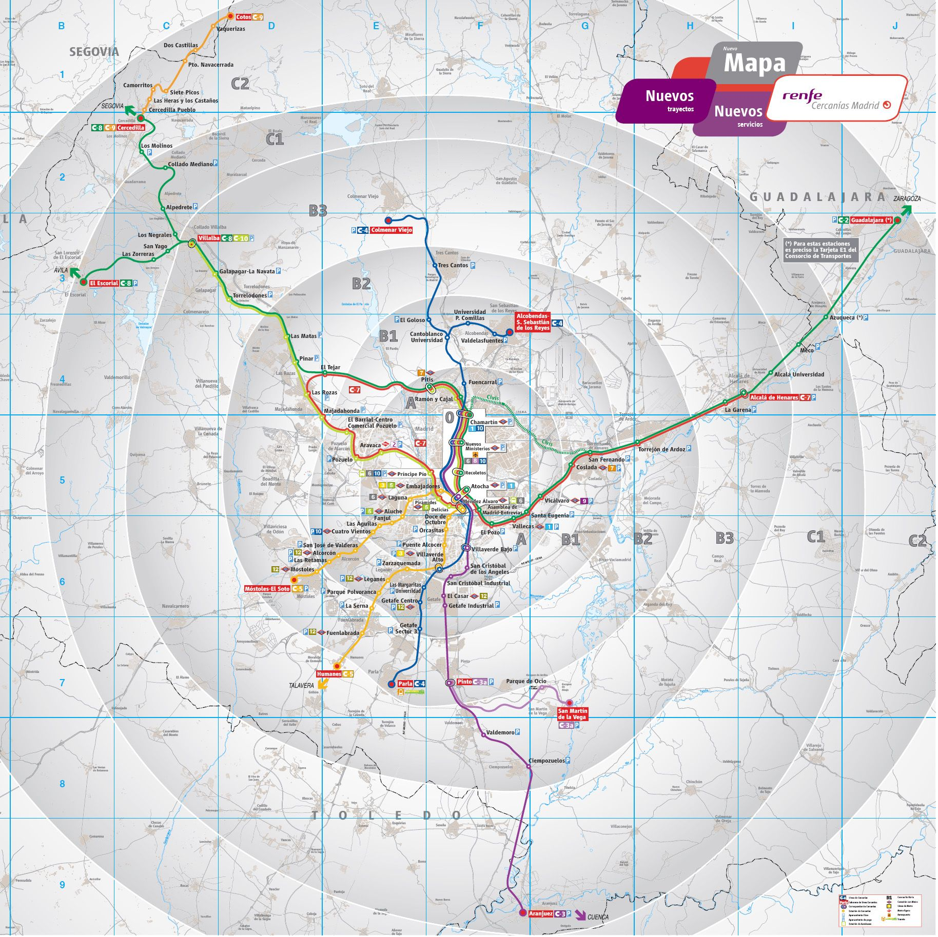 Madrid public transport map | Madrid for business travel ...