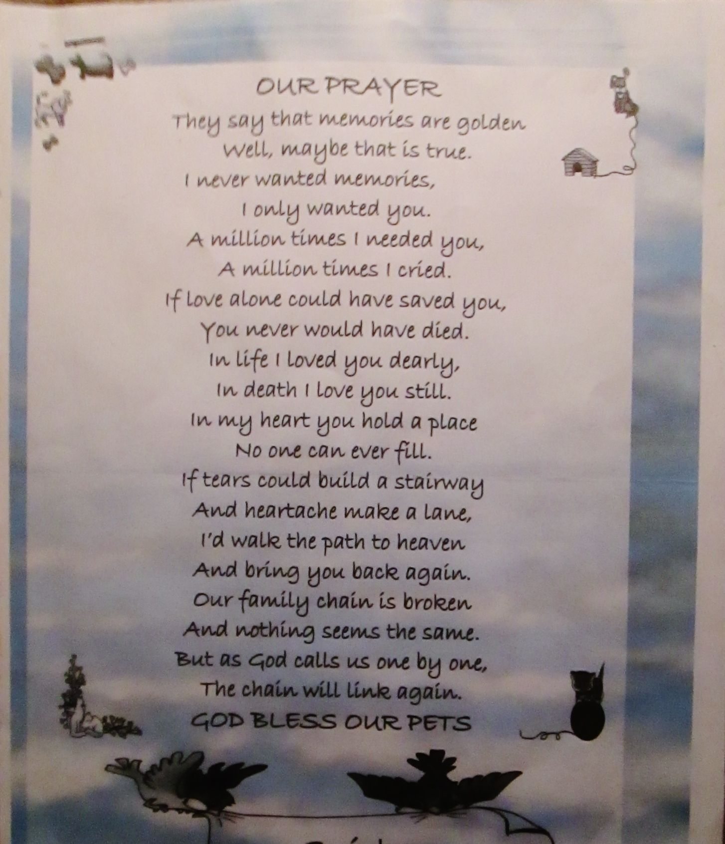 death poems for loved ones - photo #6