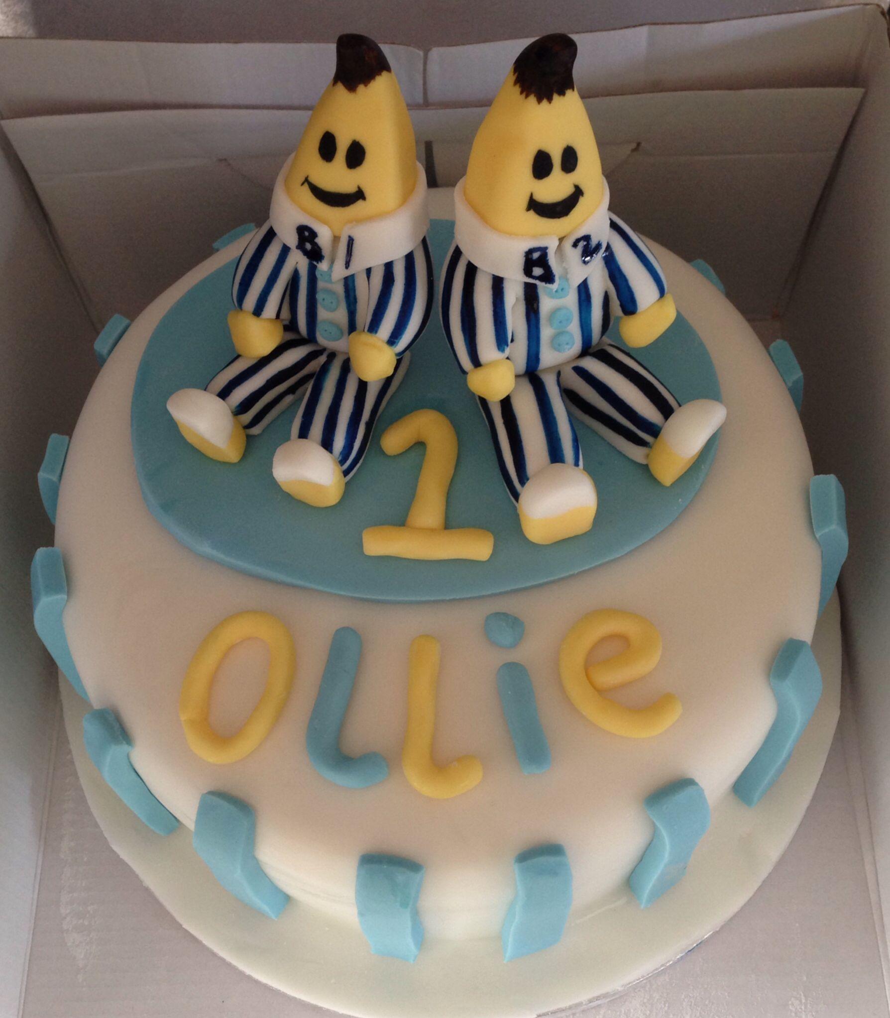 Bananas in pyjamas cake 1st birthday pinterest - Banana cake decoration ...