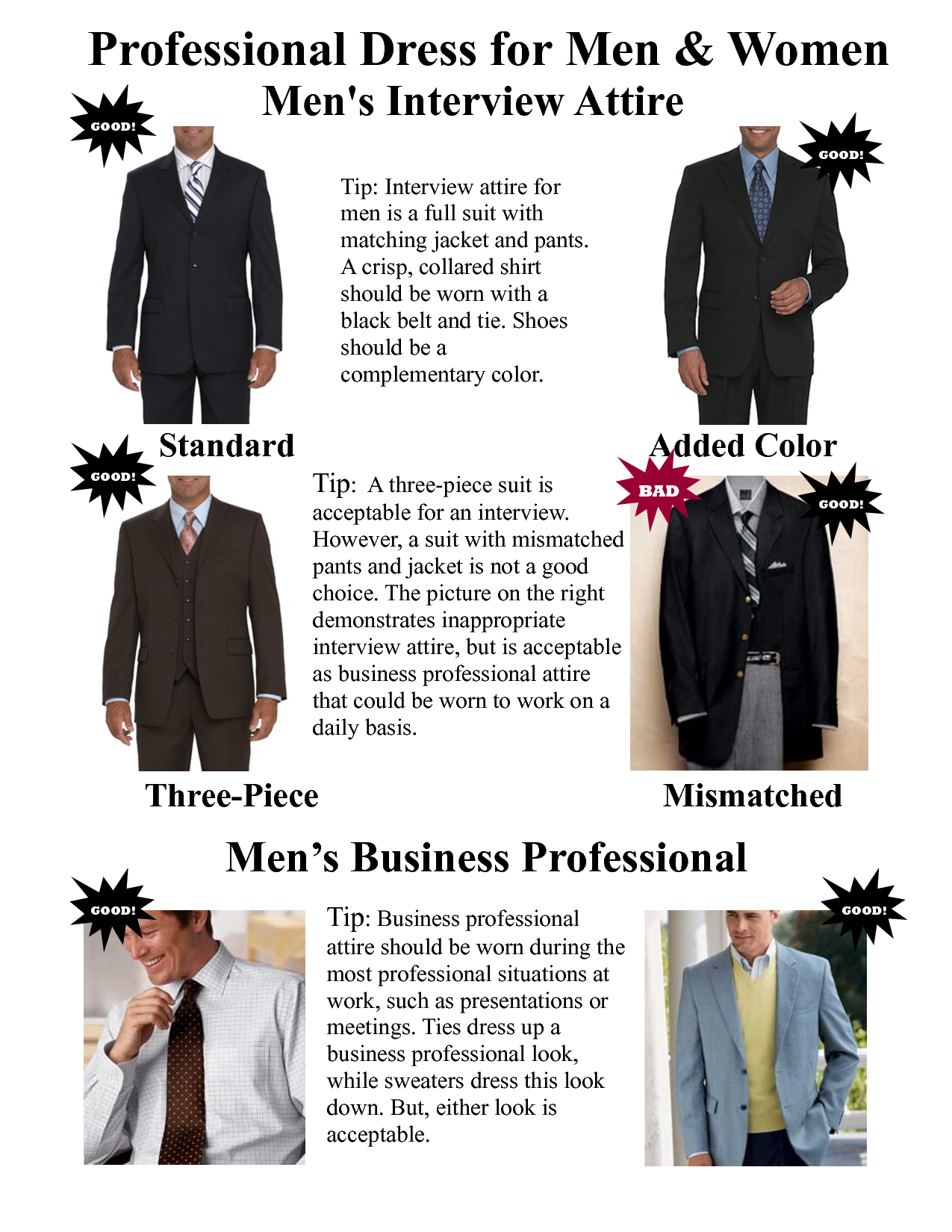 fashion tips dress professionally business code basics