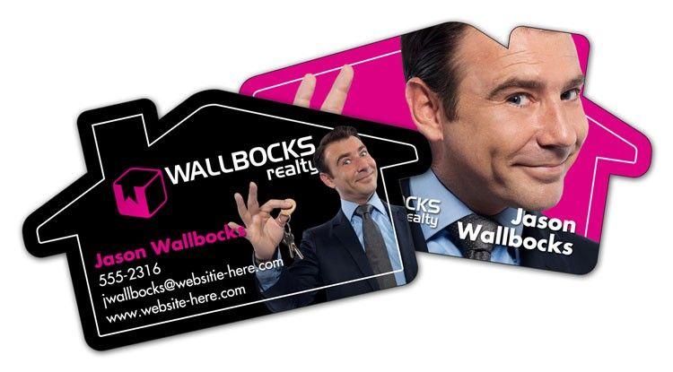 House shaped business cards realtors novelty cards for Business cards shaped like a house