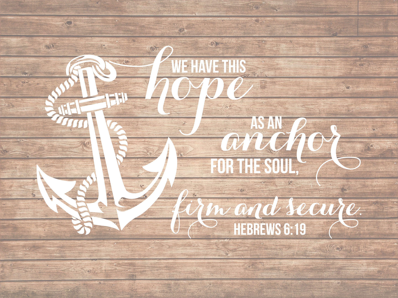 Hebrews 6:19   _Scripture Art   Pinterest