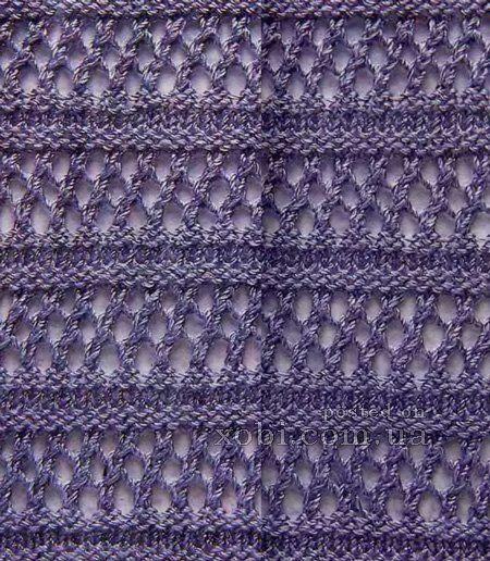 Узор для вязания косые петли