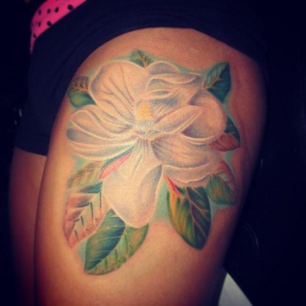 magnolia foot tattoo - photo #11