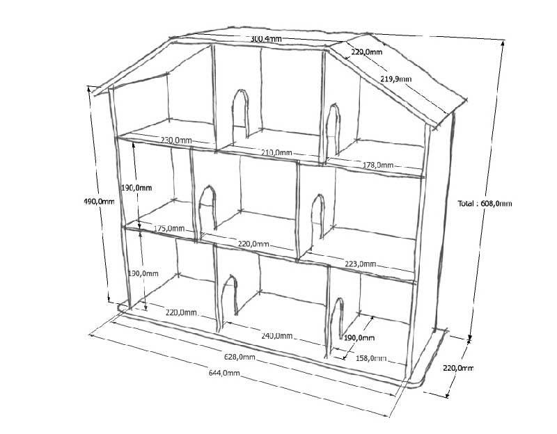 Полка домик своими руками из фанеры схема с размерами и фото 88