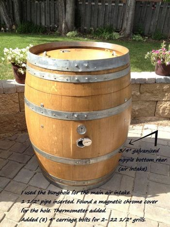 i just finished a wine barrel smoker and am really pleased