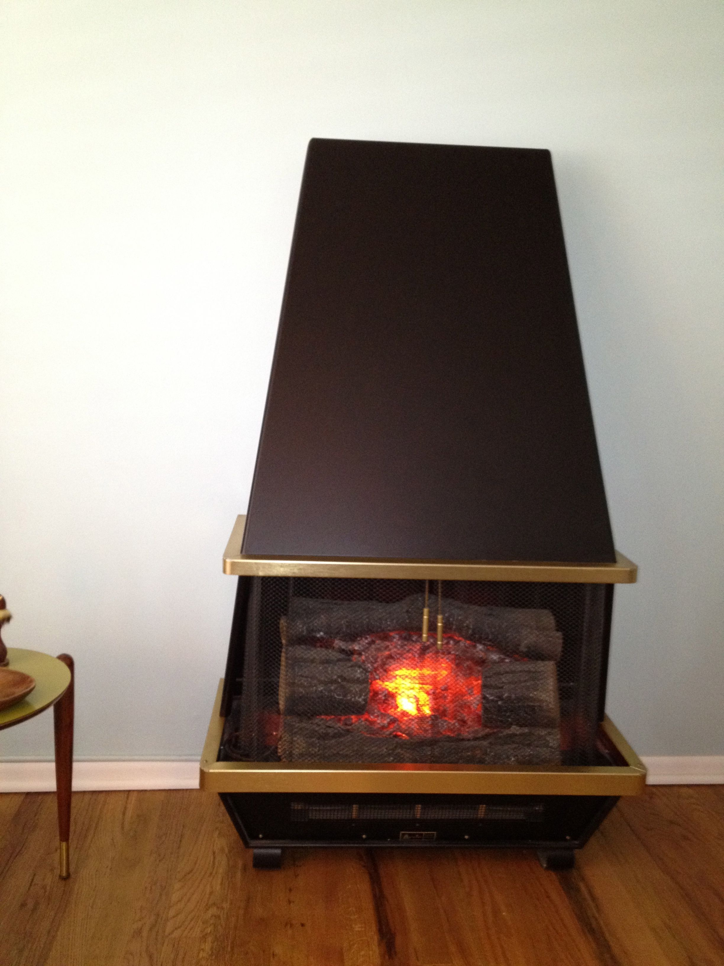electric fireplace mid century mid century home. Black Bedroom Furniture Sets. Home Design Ideas