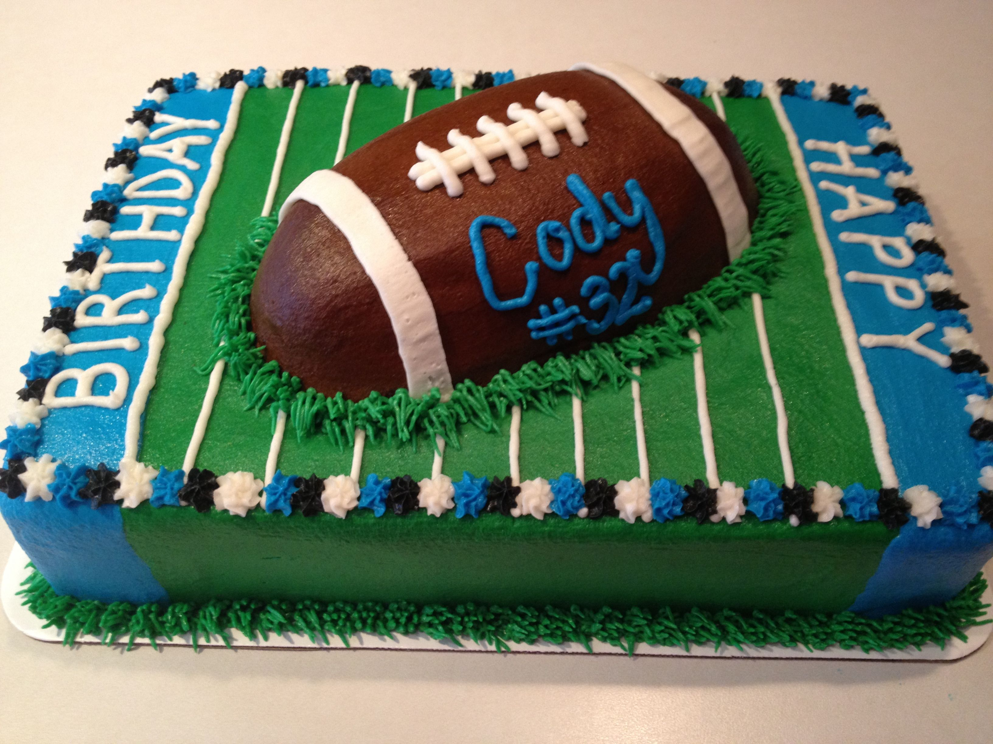 Football birthday ca