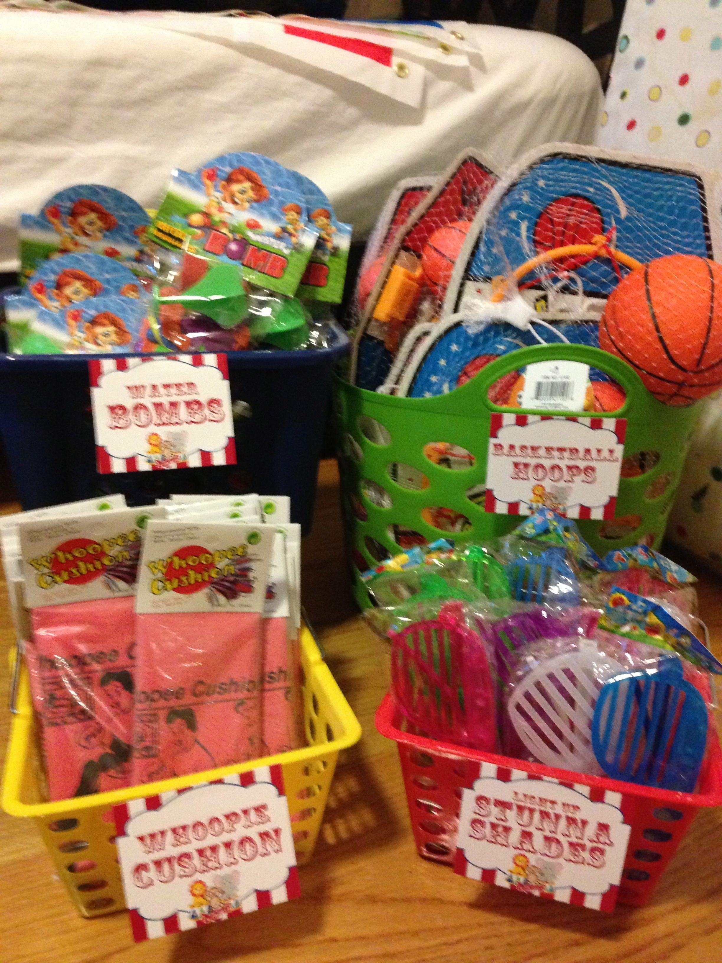 carnival prize baskets   fall festival   Pinterest