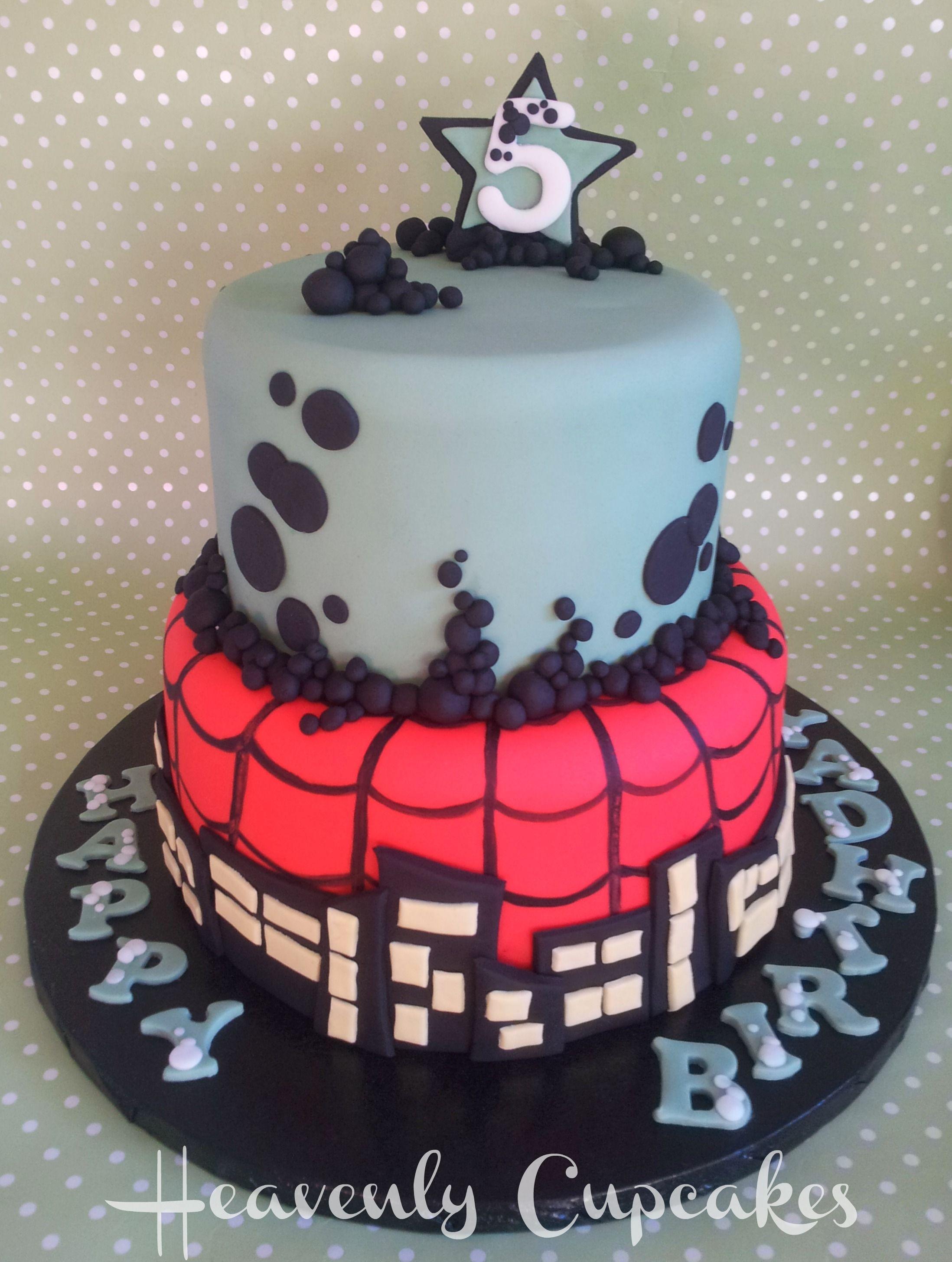 Ben10/Spiderman themed cake! Cake Decorating Pinterest