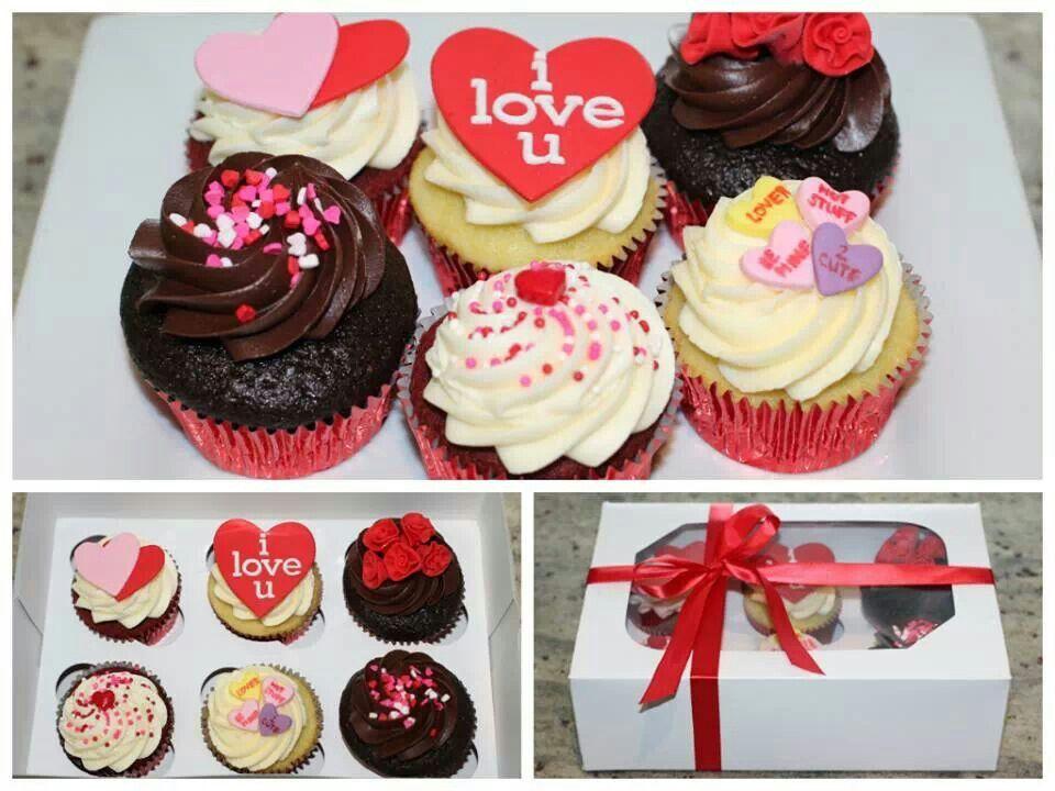 Handwritten Valentine Cupcakes With Chocolate Glaze Recipe ...