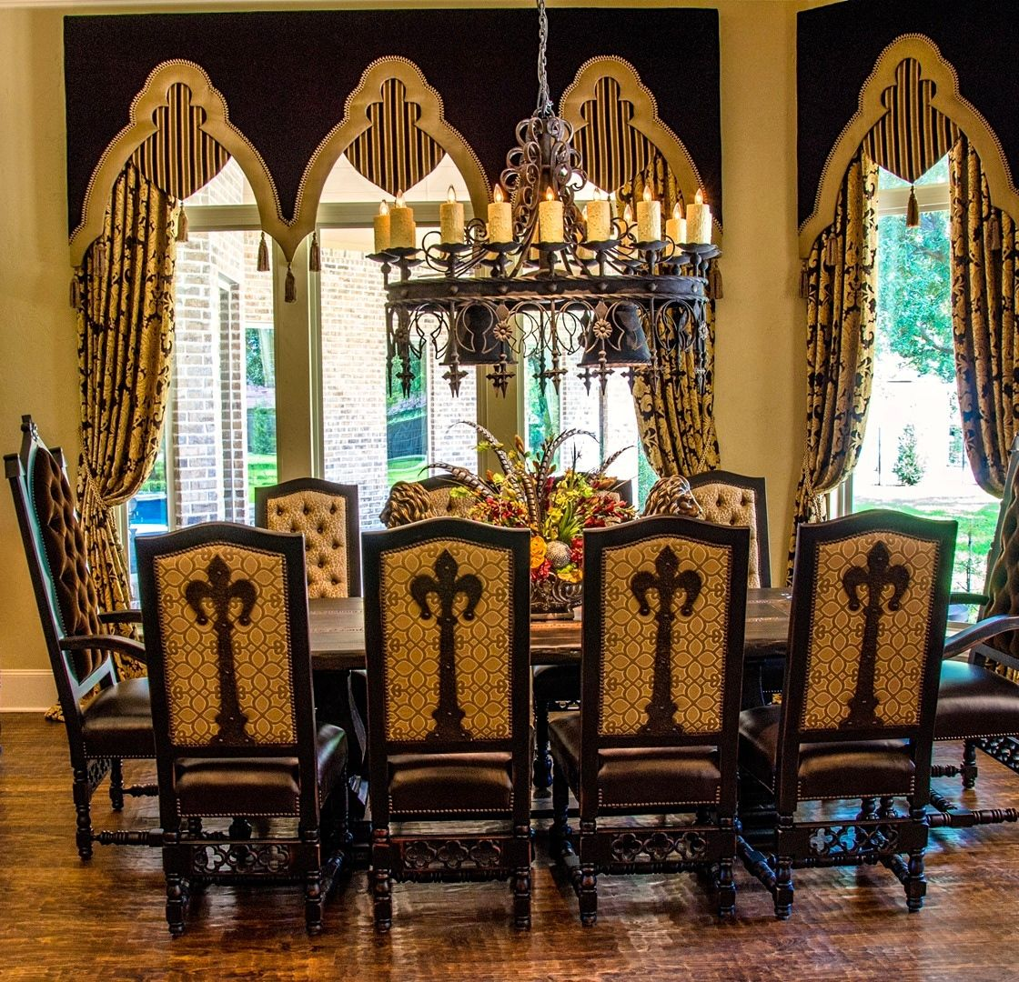 Window treatments drapes pinterest for Old world curtains and drapes