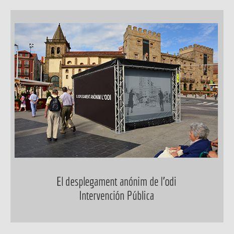 EL DESPLEGAMENT ANÓNIM DE L'ODI .  YENY CASANUEVA Y ALEJANDRO GONZÁLEZ. PROYECTO PROCESUAL ART