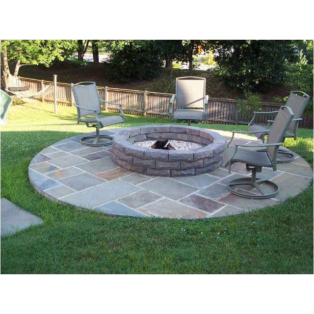 In Ground Fire Pit Back Yard Pinterest