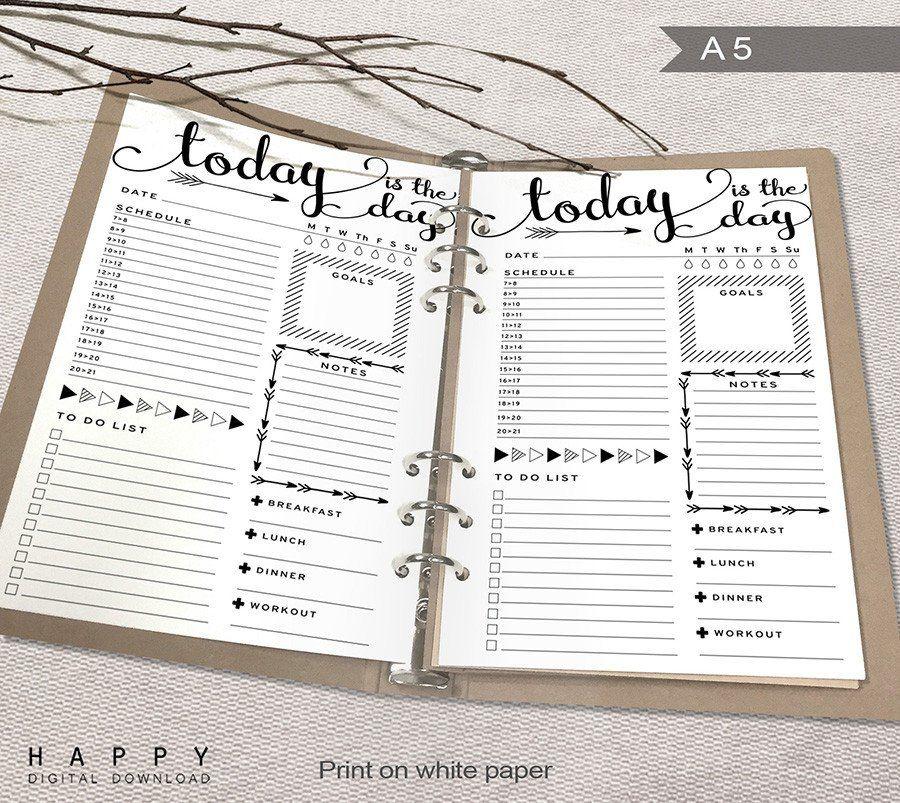 Daily Planner Journal – September printable calendars