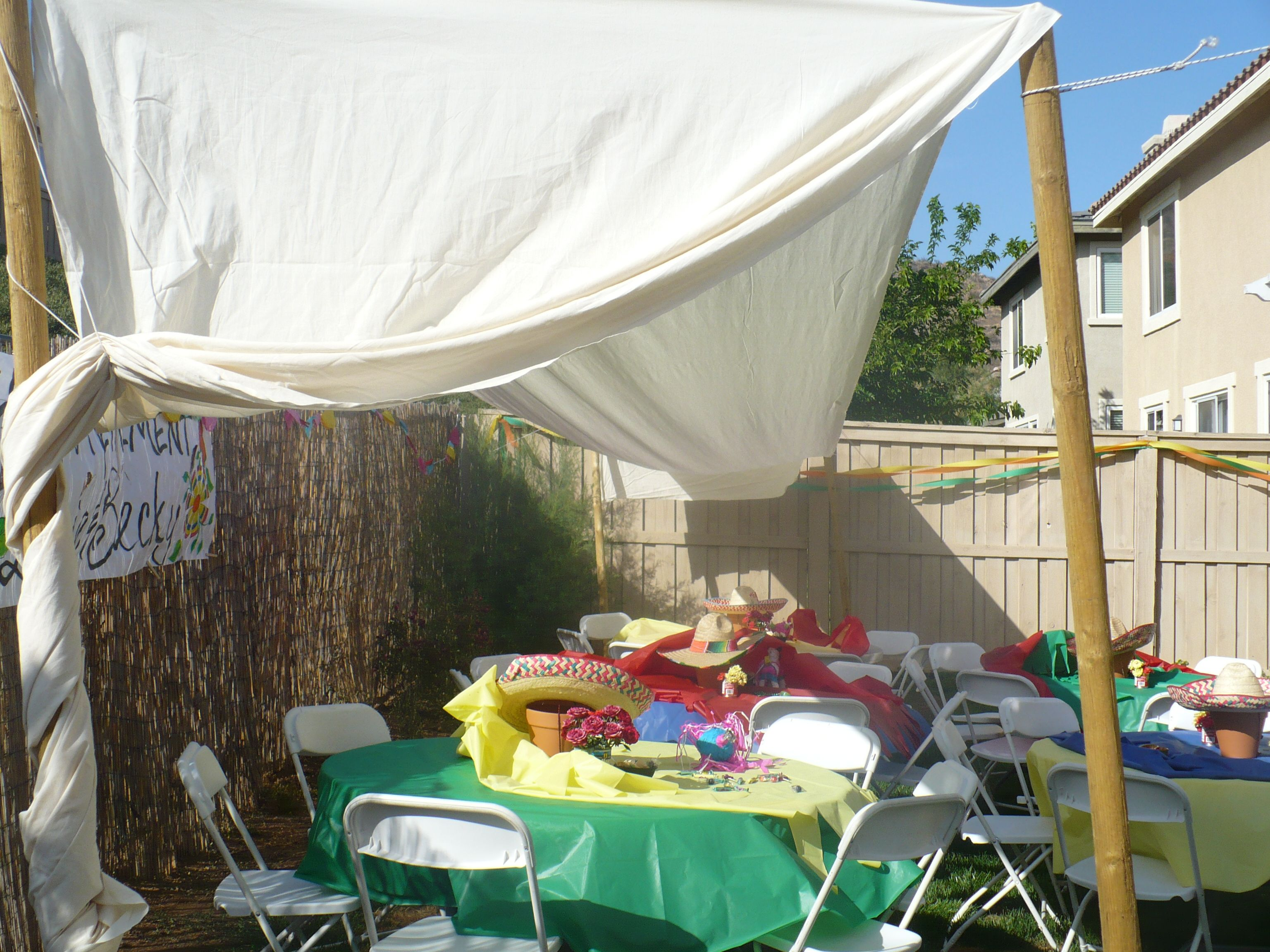 Backyard Canopy Diy : DIY outdoor canopy  For the Home  Pinterest