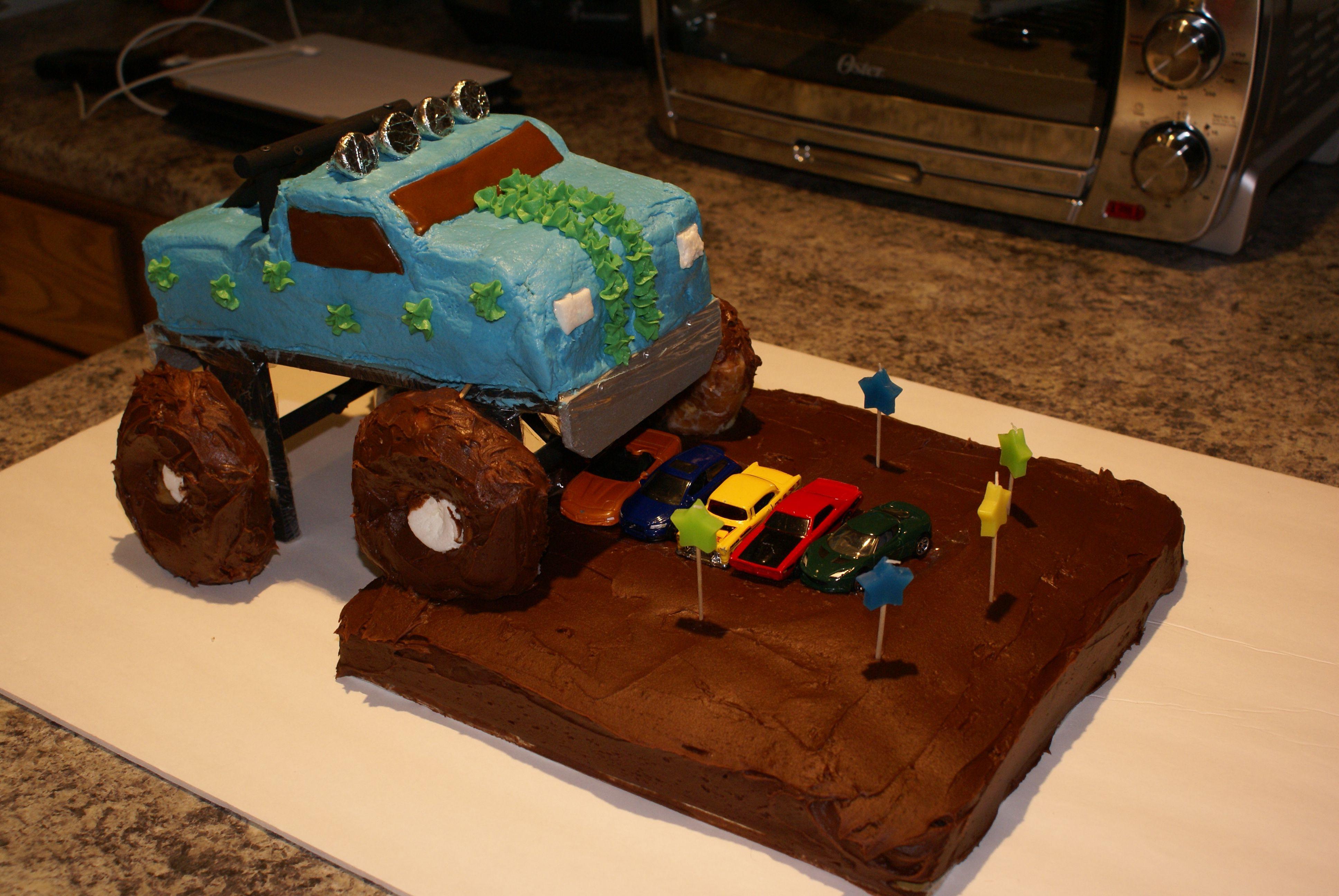 Monster truck cake Party Ideas Pinterest