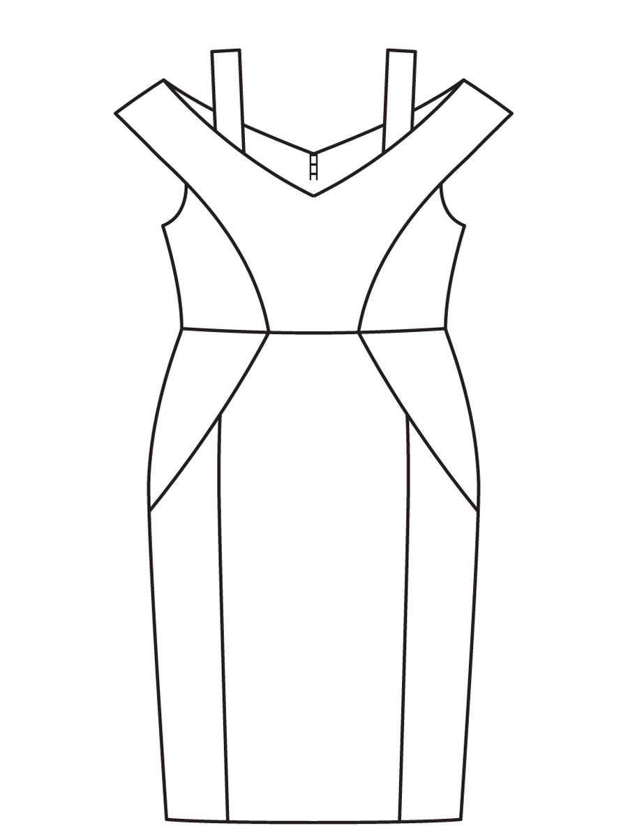 Платье-футляр без выкройки