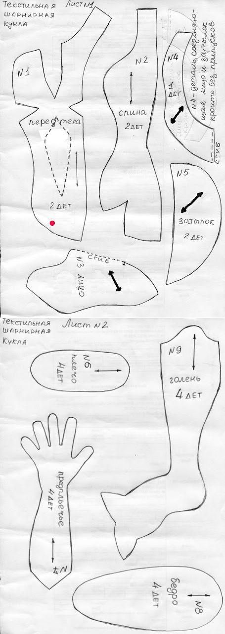 Женские формы текстильной куклы.: публикации и мастер