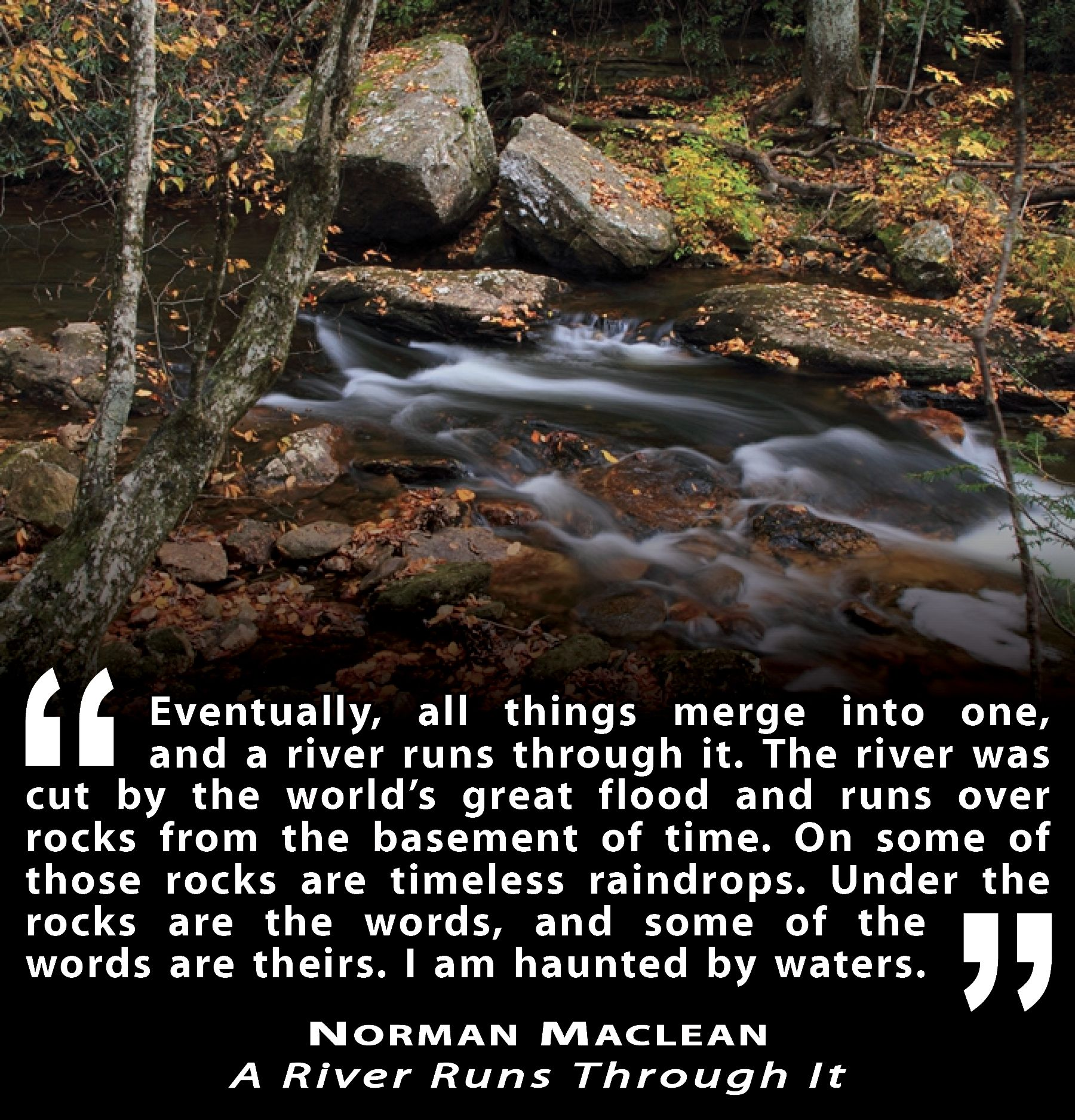 the importance of water in norman macleans a river runs through it