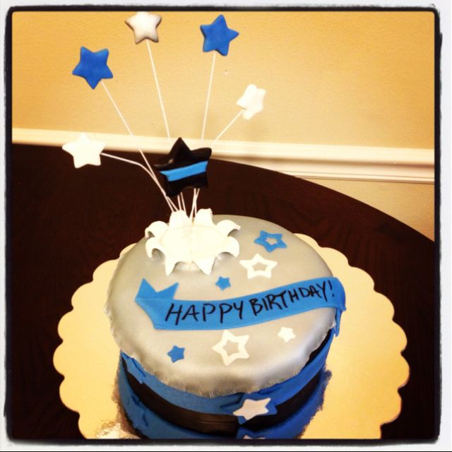 birthday cake for a police officer Food Pinterest