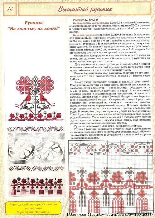 Рушник божник схема вишивки