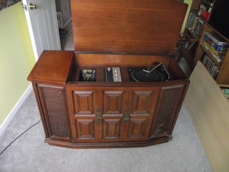 vintage record player cabinet vintage