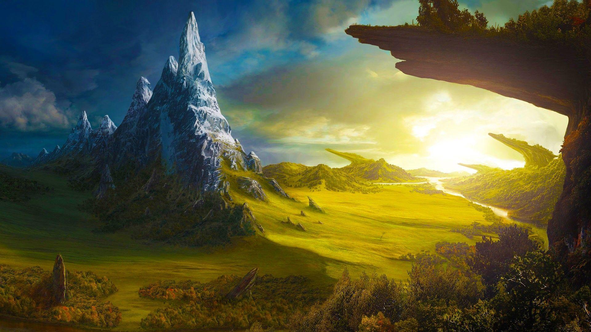 Fantasy world art
