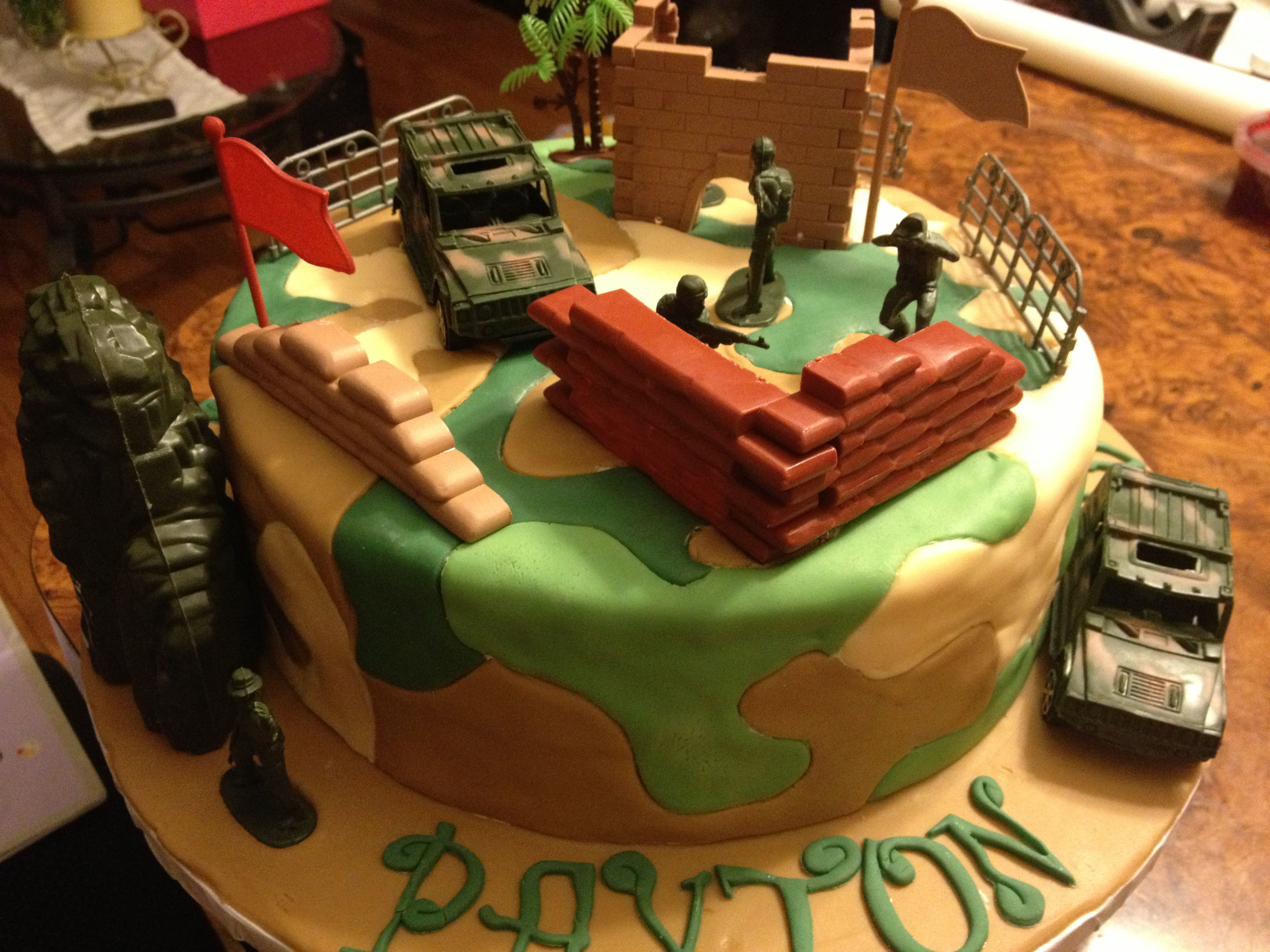 army themed birthday party activities
