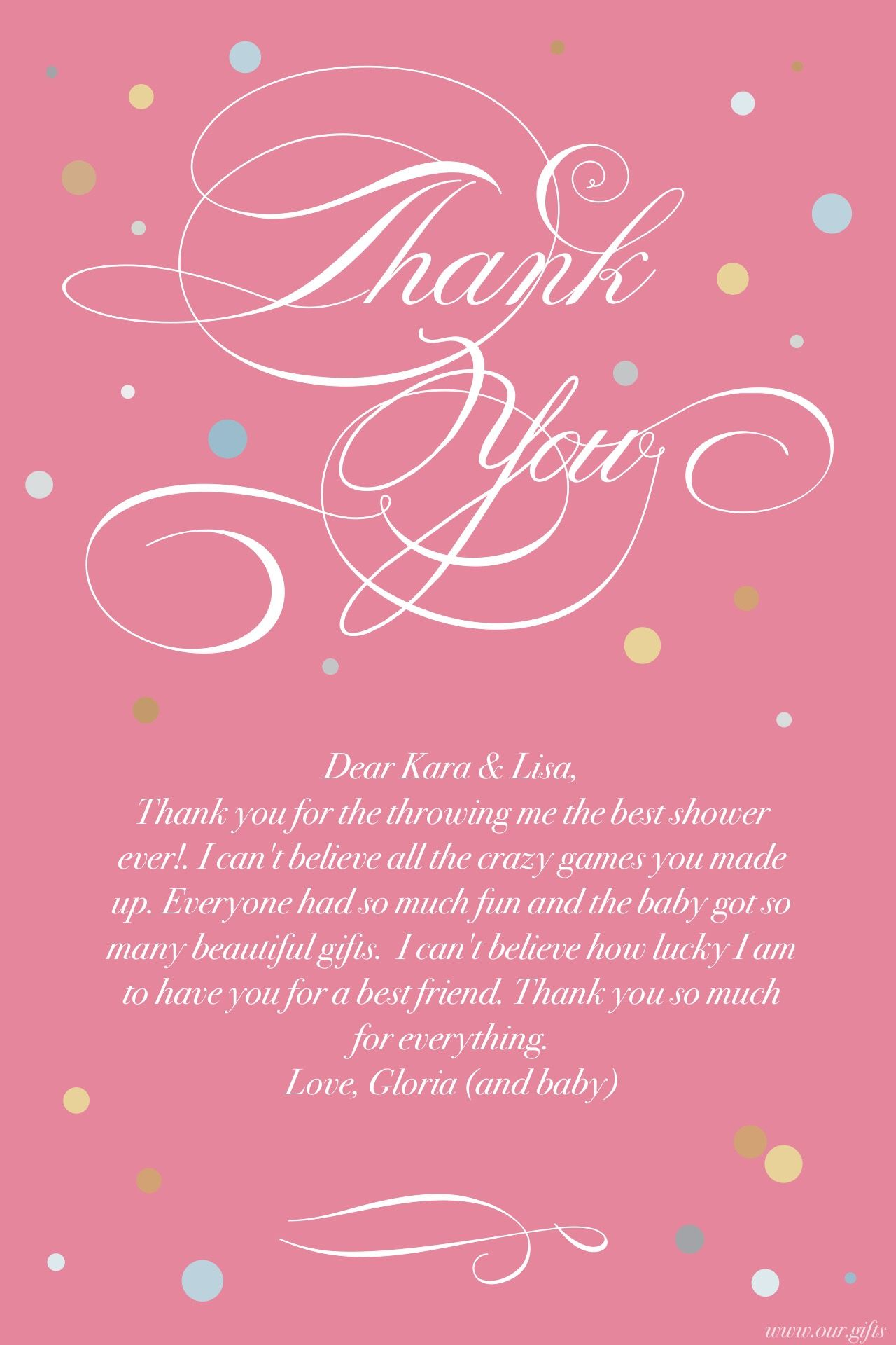 Baby Gift Thank You Notes Beautiful Thank You Card Wording - satukis ...