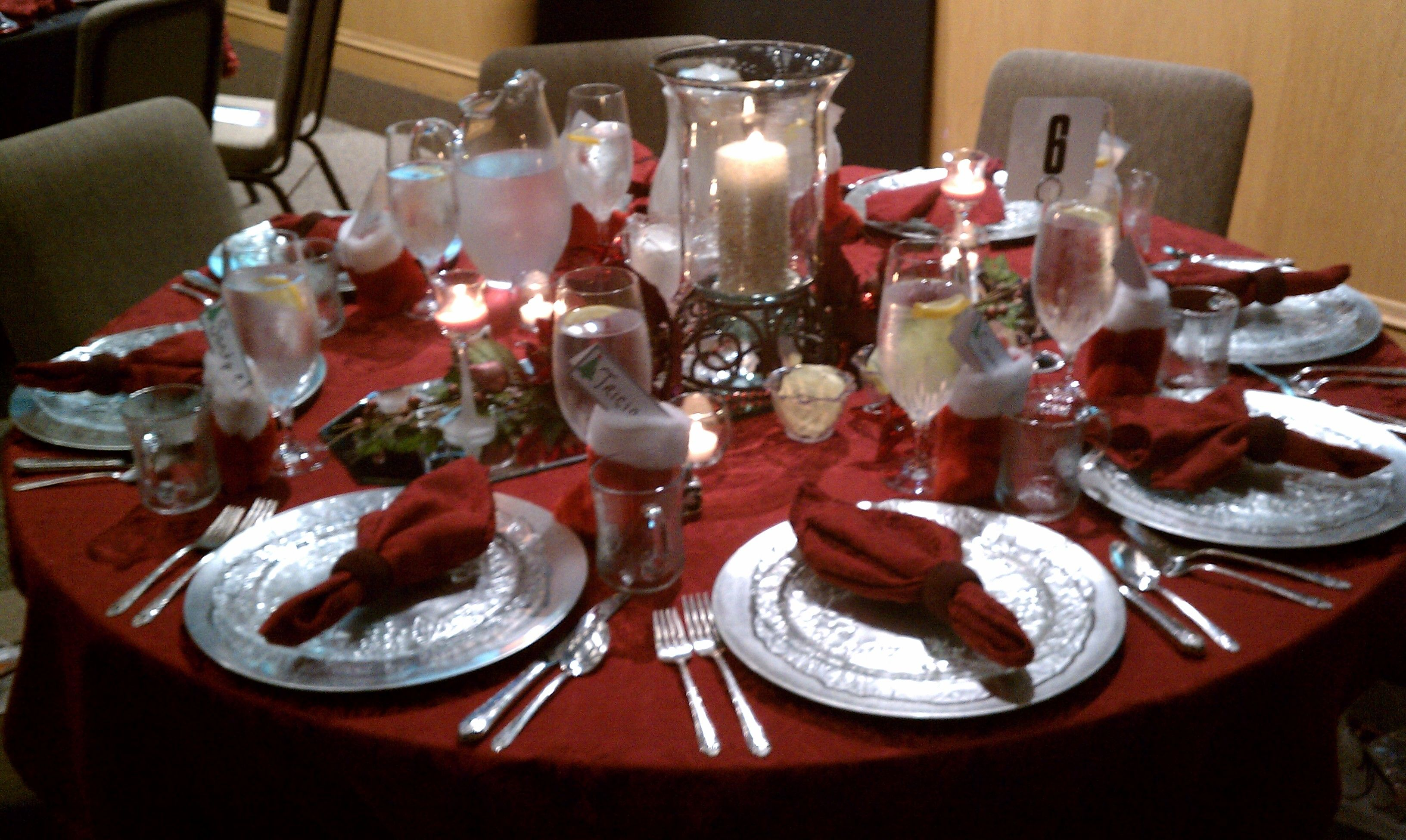 Christmas Luncheon Table Decoration Ideas Table