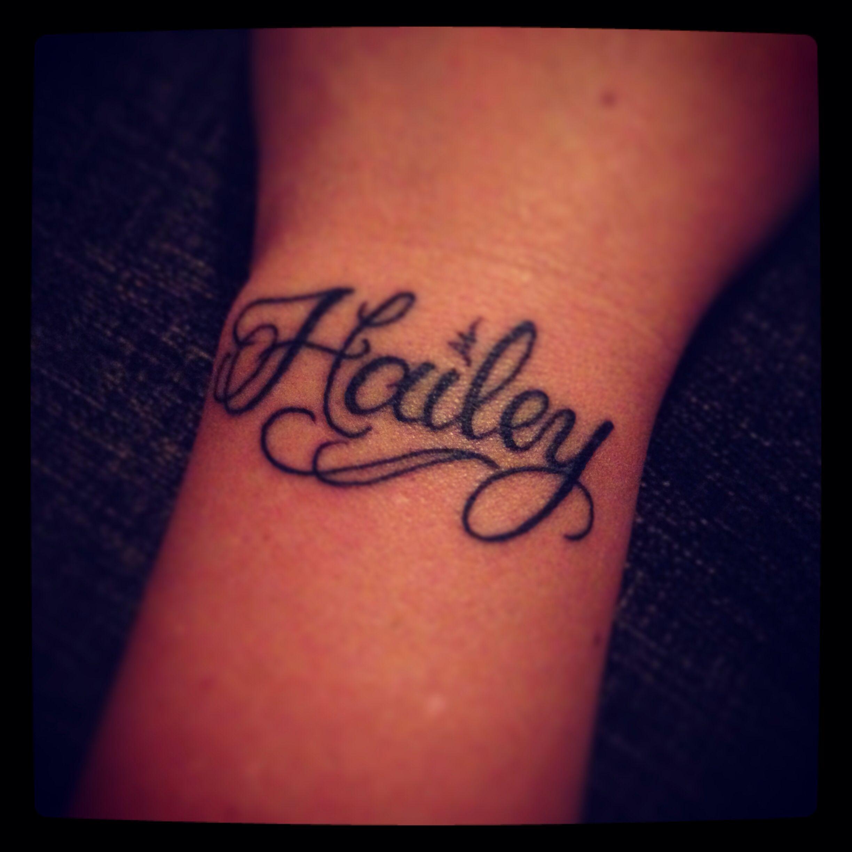 Daughters name tattoo on left wrist tattoo ideas for Daughter name tattoo ideas