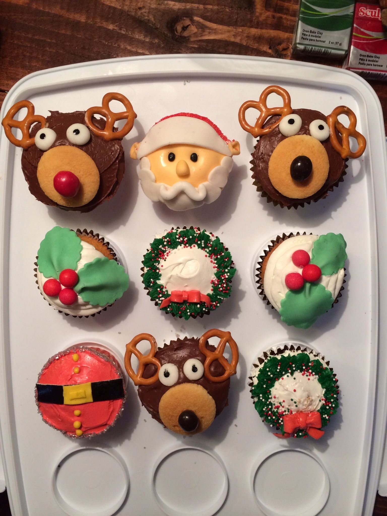 Christmas Cake Ideas Pinterest : Christmas Cupcake ideas Cupcakes Pinterest