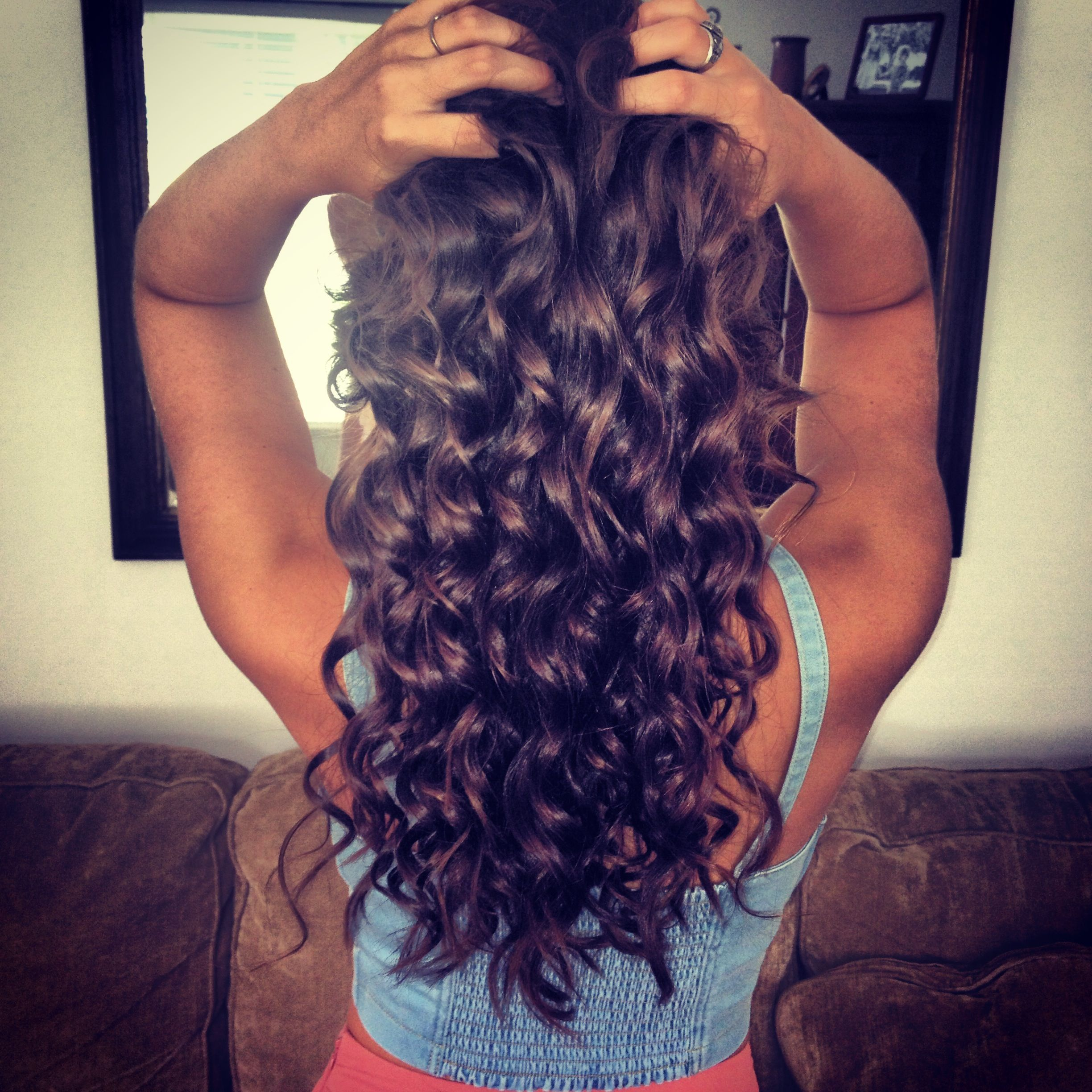 Curly hair from curling wand | The Hair | Pinterest