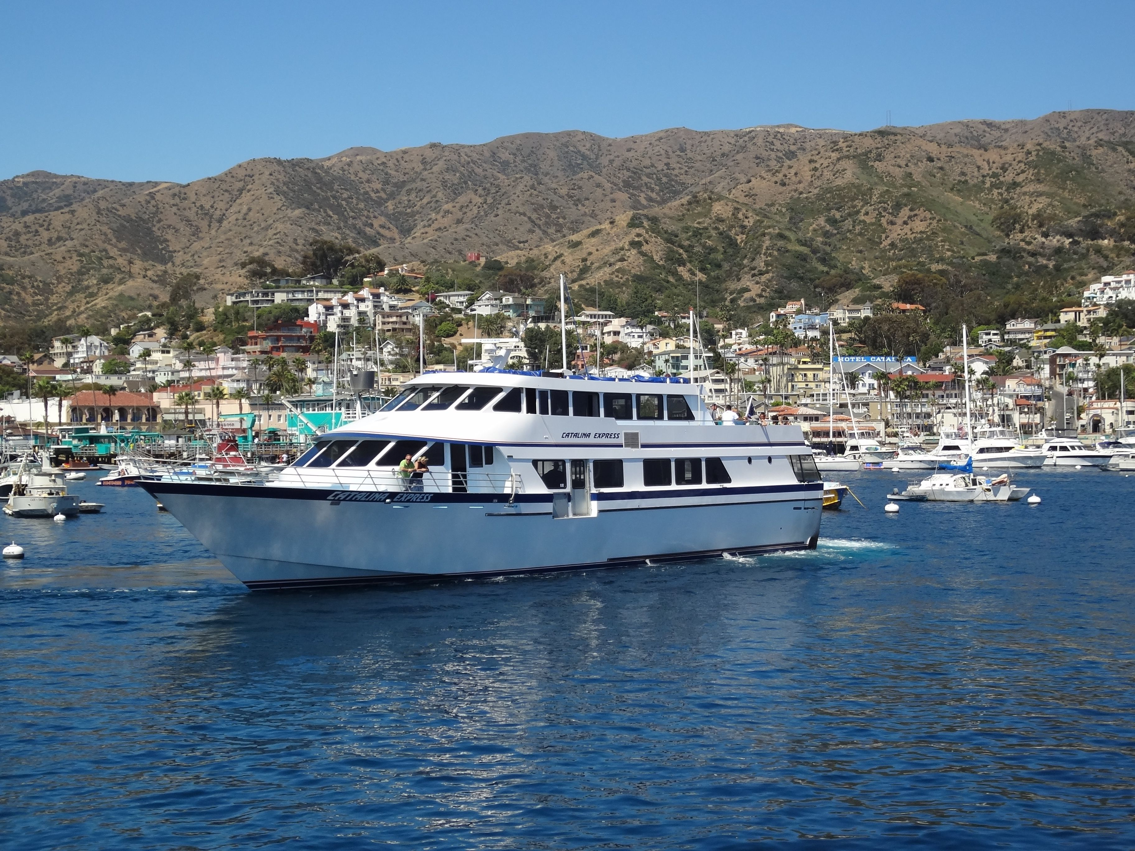 Catalina Island Seaplane Tour Highlights A Seaplane Safari of Sights Take off & landing from the clear blue waters of picturesque Avalon or White's Landing or depart & return to Long Beach Harbor or Cabrillo Beach in San Pedro, Port of LA.