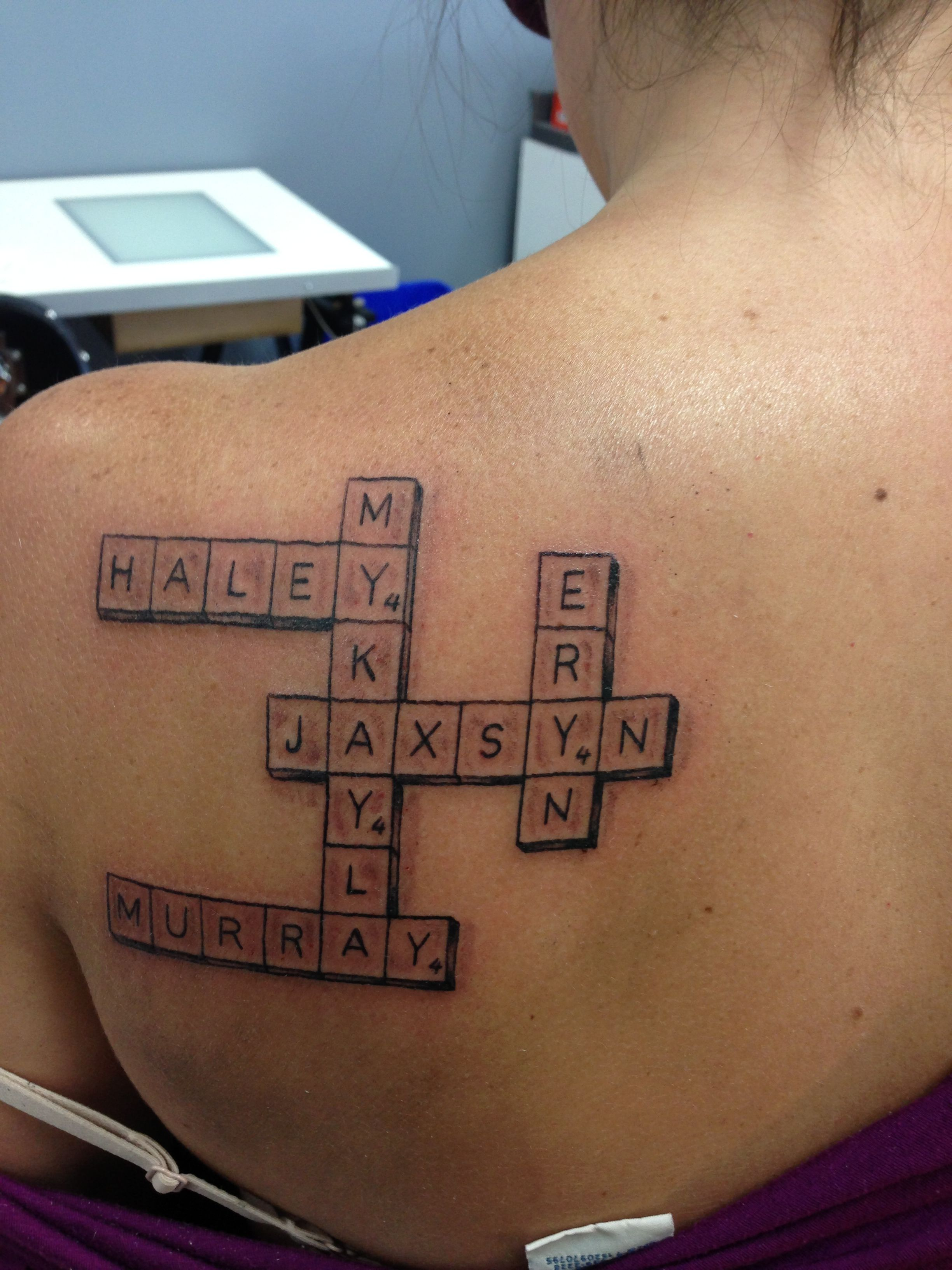 scrabble tattoo random love pinterest