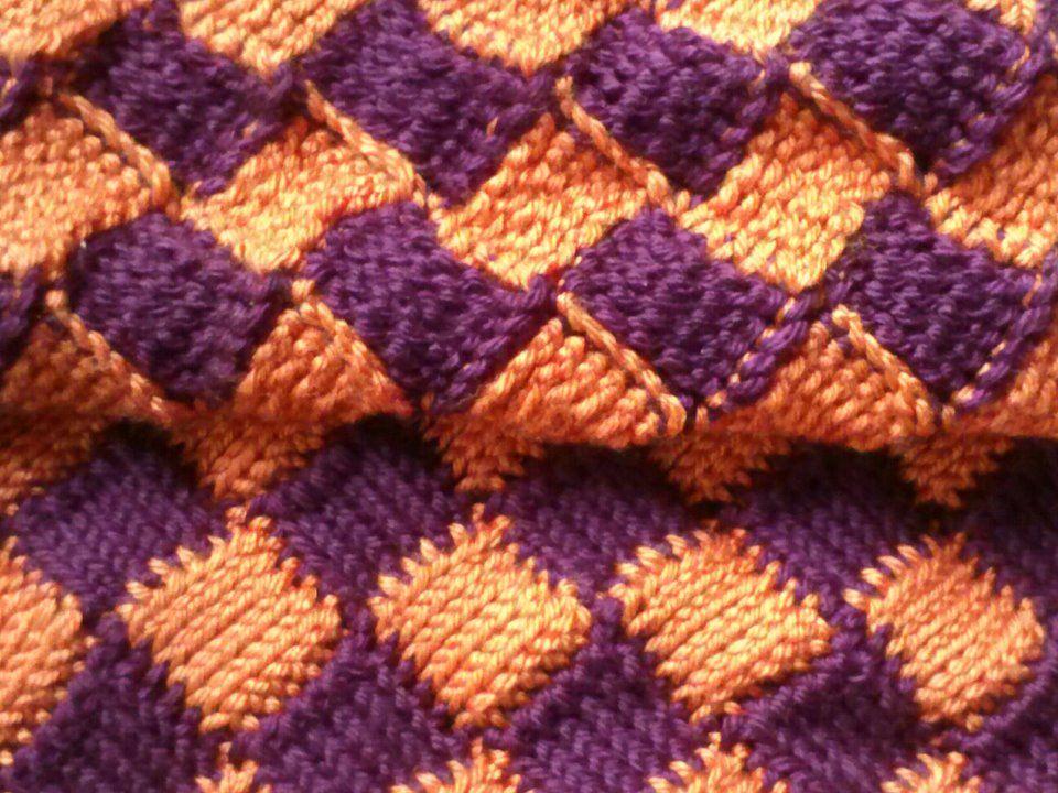 Crochet Entrelac : Tunisian Entrelac Crocheted Baby Blanket Crochet Pinterest