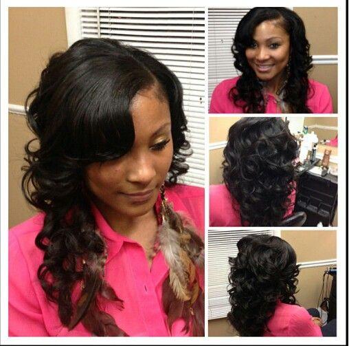Cute sew in hairstyles pinterest