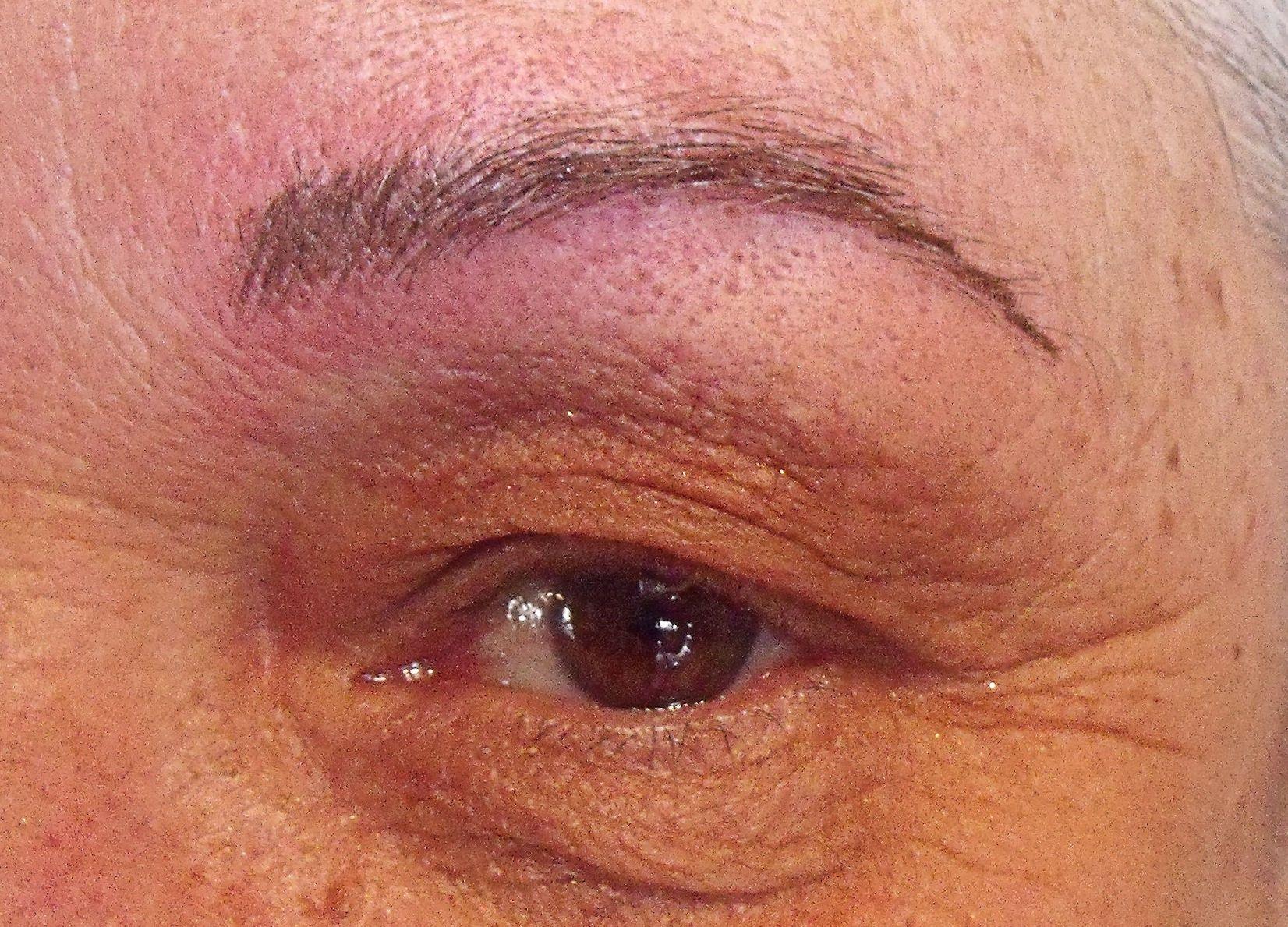 After permanent eyebrow procedure permanent makeup pinterest