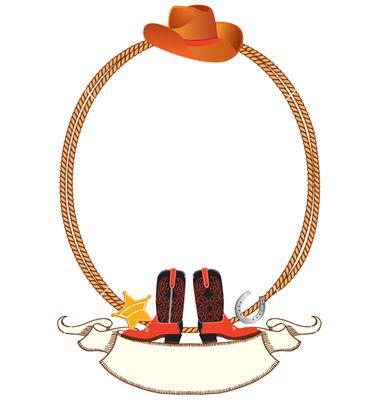 Cowboy rope border