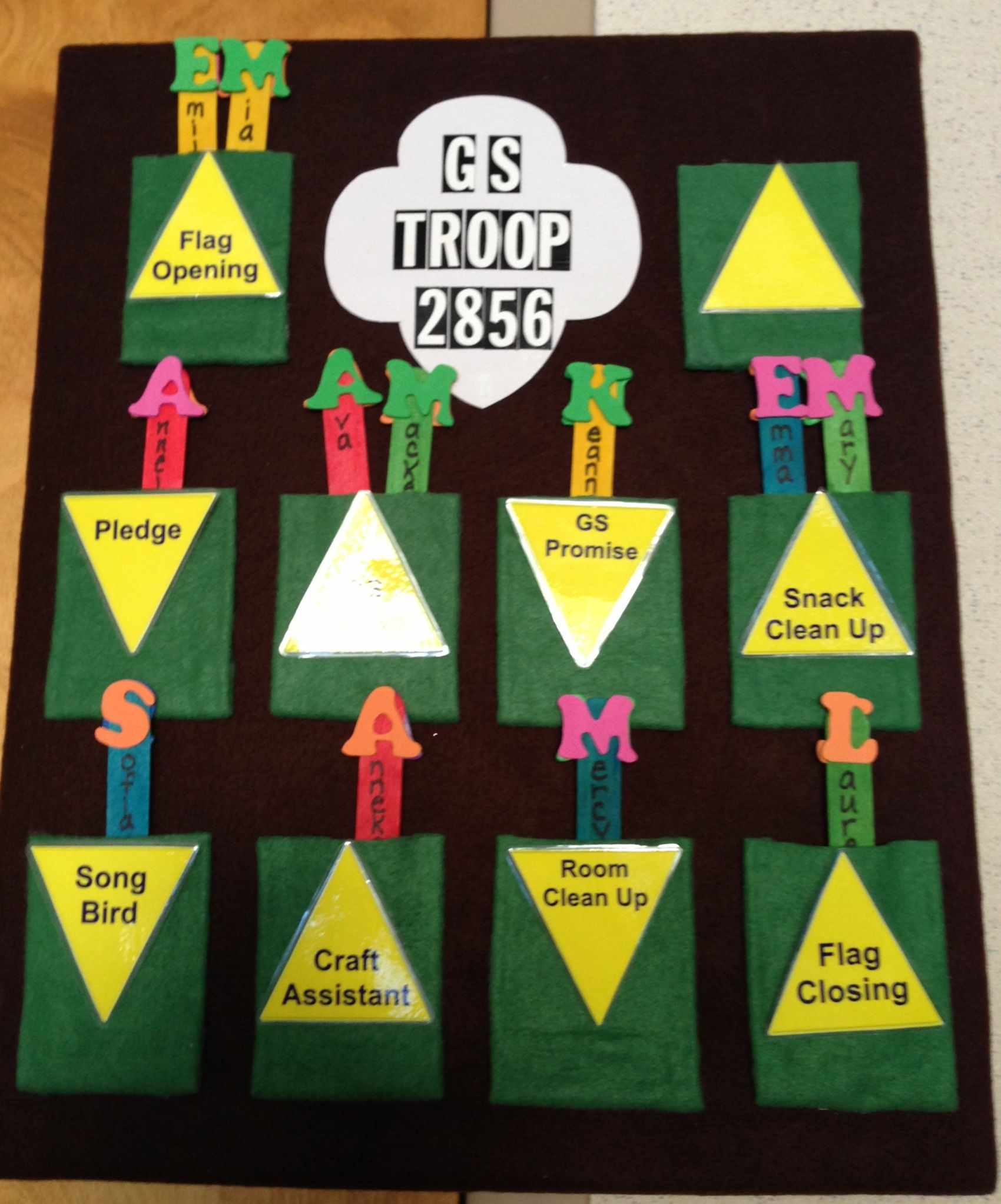 Kaper chart for our Brownie Troop : Scouts : Pinterest