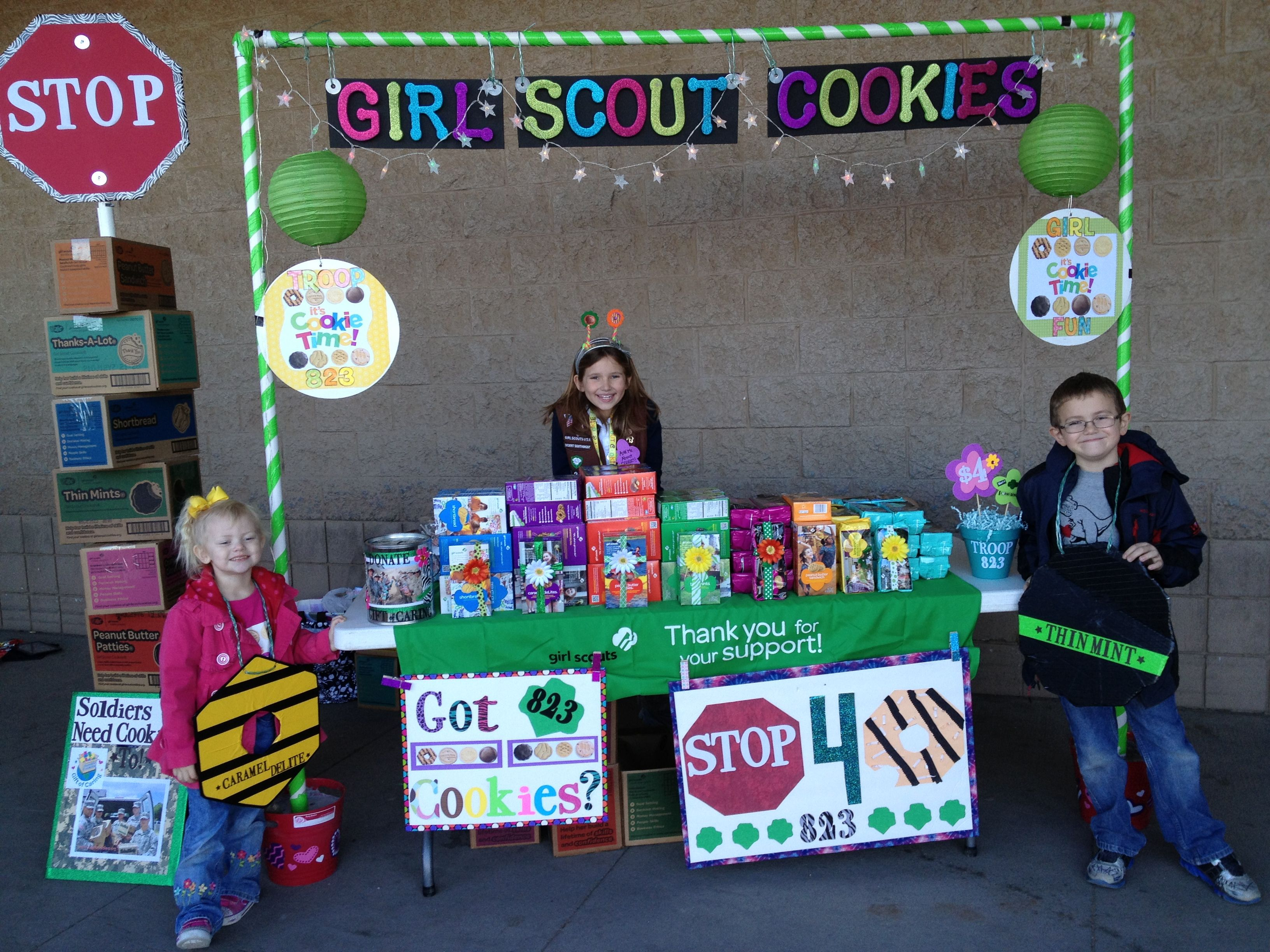 Our Cookie Booth Girl Scouts Pinterest