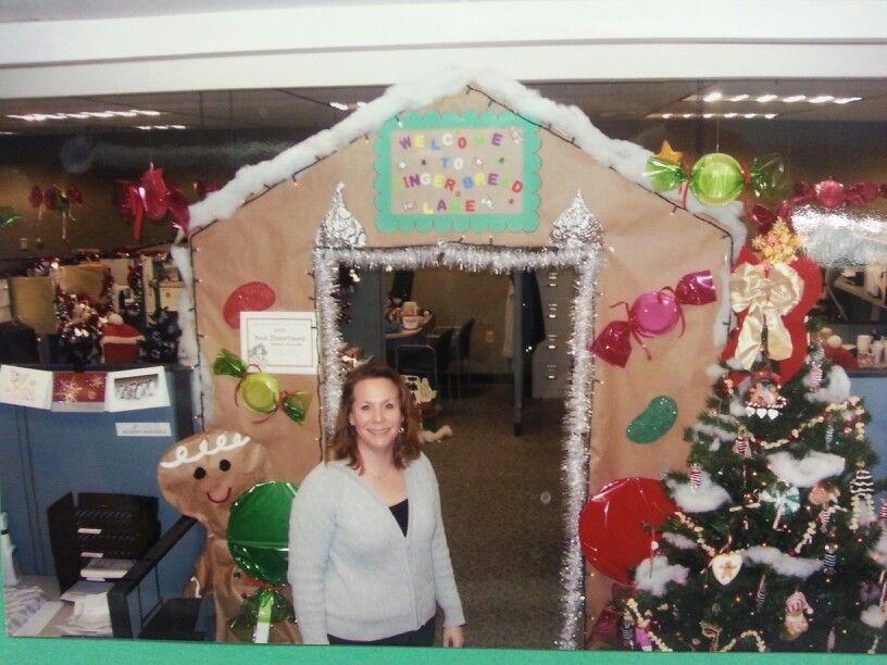 Work Pod Decorating Ideas Christmas : Office christmas decor gingerbread lane