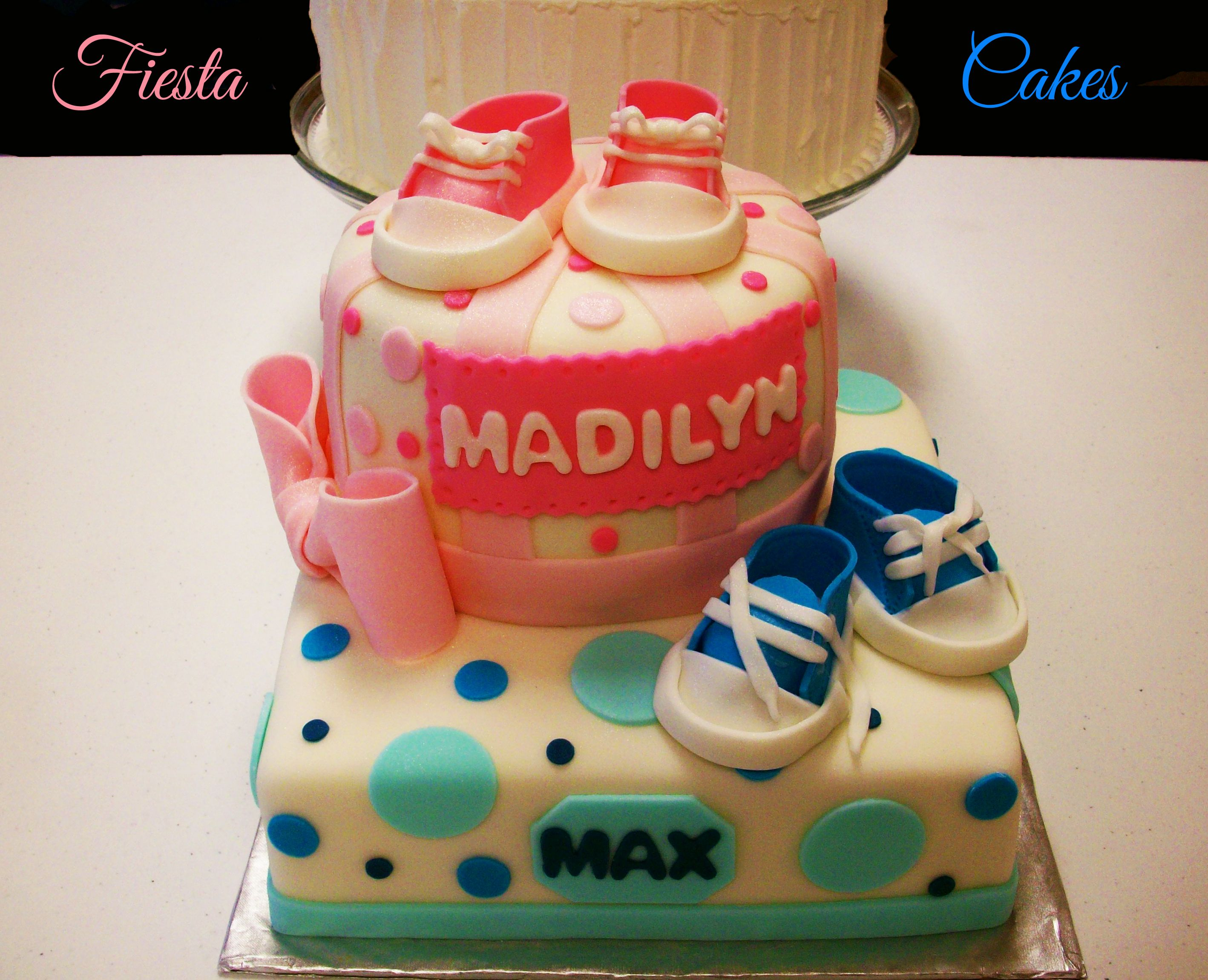 twins baby shower cake double babies pinterest