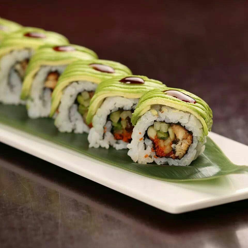 Caterpillar roll sushi | fabulous food and dessert | Pinterest