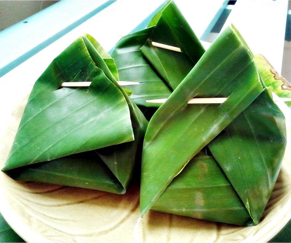 banana leaf wrap thai style be sweet ka nom thai. Black Bedroom Furniture Sets. Home Design Ideas