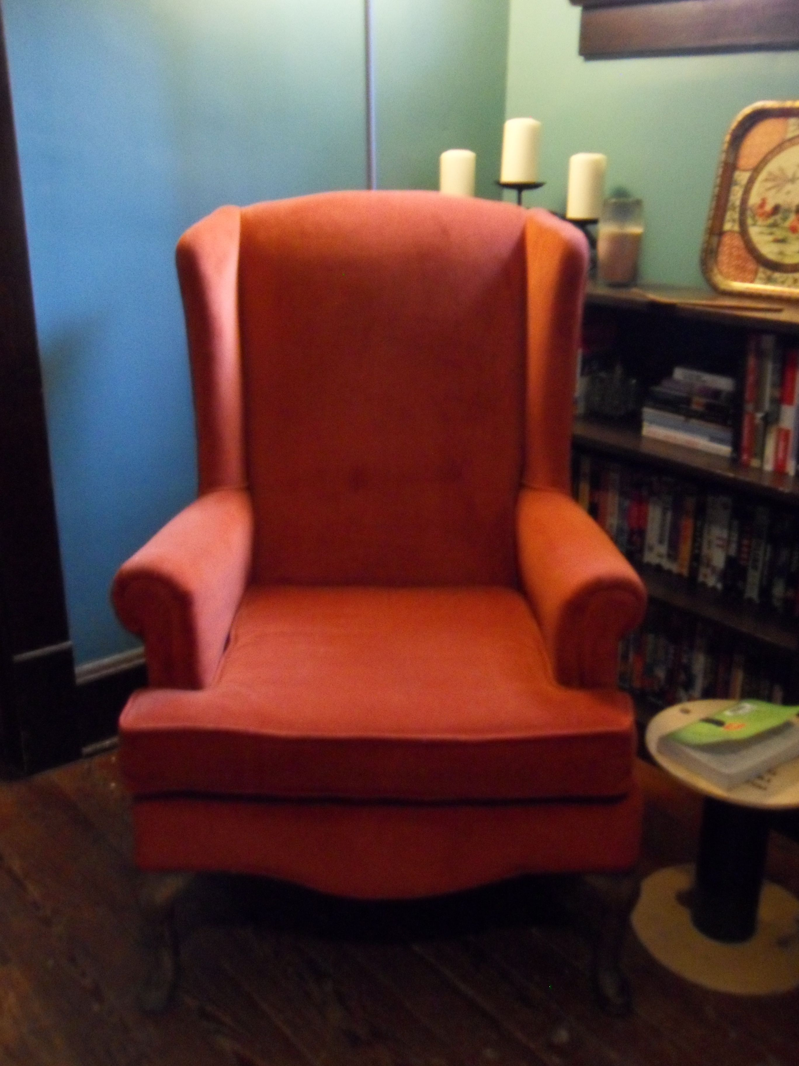 Vintage Burnt Orange Reading Chair Home Decor Pinterest