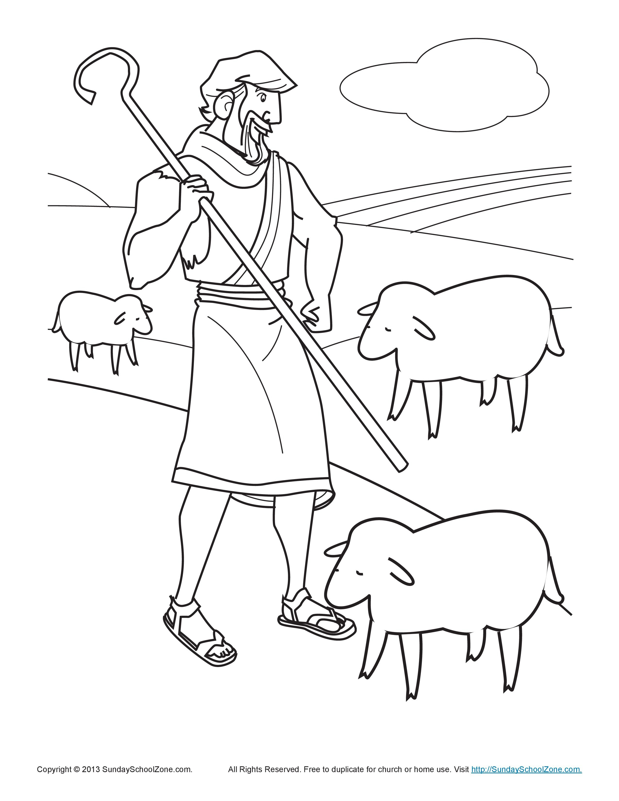 The Shepherd Tends His Flock Coloring Page The Parable Of The Lost Sheep Bible Activities