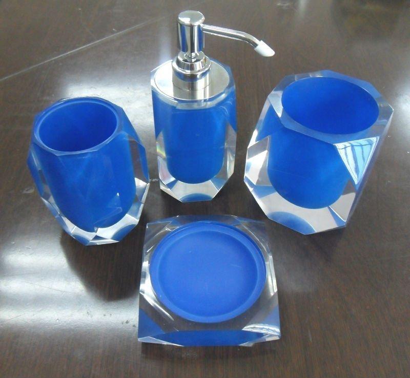 Sky blue bathroom accessories set home ideas pinterest for Blue bath accessories set
