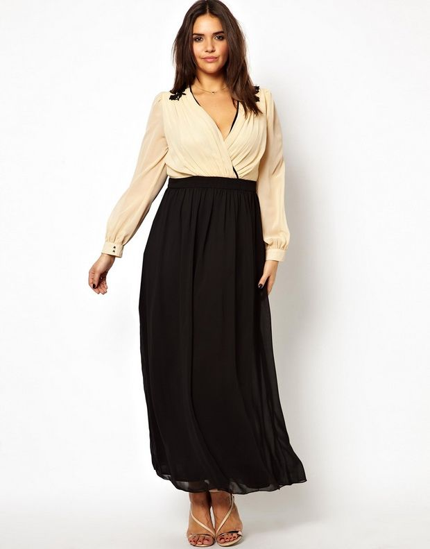 Длинные повседневные платья для полных женщин